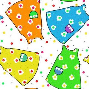 Little Pinafores - gold/lime/aqua/orange