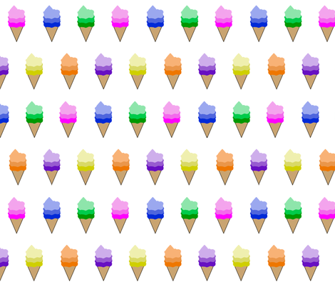 * Ice Cream Flavors * fabric by shandubdesigns on Spoonflower - custom fabric