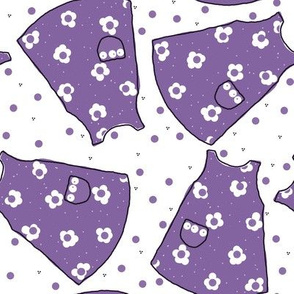 Little Pinafores - purple mono