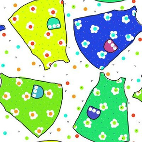 Little Pinafores - yellow/lime/seafoam/blue