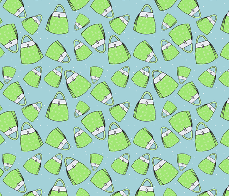 Purses - lime on aqua fabric by designergal on Spoonflower - custom fabric