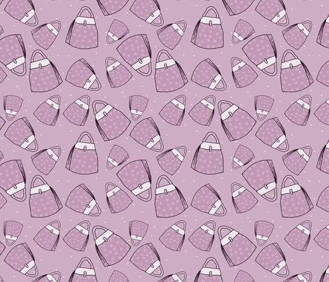 Purses - lavender mono fabric by designergal on Spoonflower - custom fabric