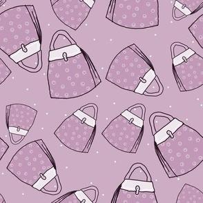 Purses - lavender mono