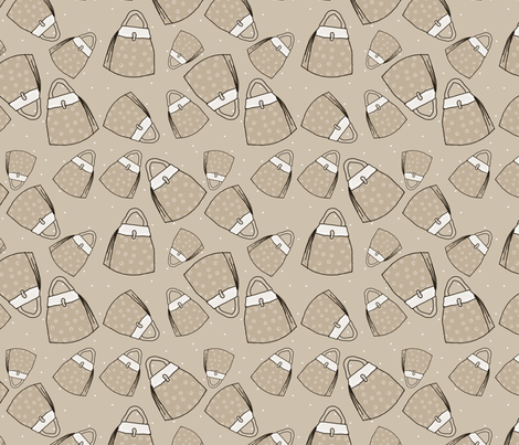 Purses - taupe mono fabric by designergal on Spoonflower - custom fabric