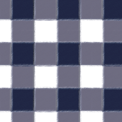 Small Navy Buffalo Check Gingham fabric by sugarfresh on Spoonflower - custom fabric