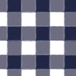 Small Navy Buffalo Check Gingham