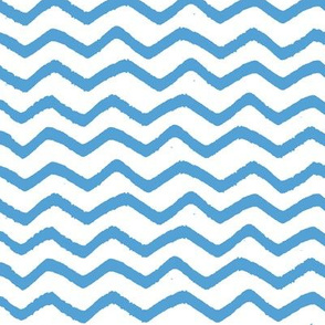 Carolina Blue Marker Chevron
