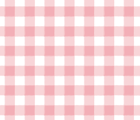 Small Perfect Pink Buffalo Check Gingham fabric by sugarfresh on Spoonflower - custom fabric