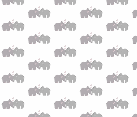 Elephant Love 2 fabric by forthelove on Spoonflower - custom fabric
