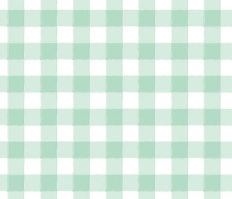 Small Mint Buffalo Check Gingham fabric by sugarfresh on Spoonflower - custom fabric