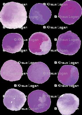 Purple Watercolor Watercolour Dot Dots