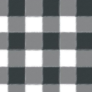 Small Charcoal Buffalo Check Gingham