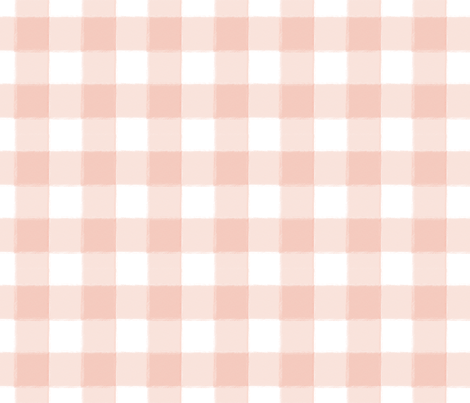 Small Blush Pink Buffalo Check Gingham fabric by sugarfresh on Spoonflower - custom fabric
