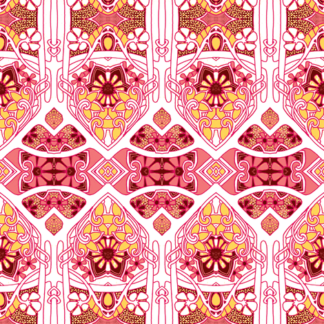 Screaming Pink Garden fabric by edsel2084 on Spoonflower - custom fabric