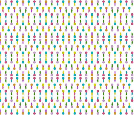 Neon Pineapples fabric by shandubdesigns on Spoonflower - custom fabric