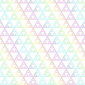 Rainbow sierpinsky light