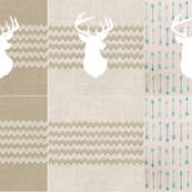Linen Stag Cushions #2