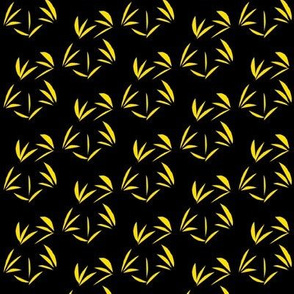 Daffodil Yellow Oriental Tussocks on Black