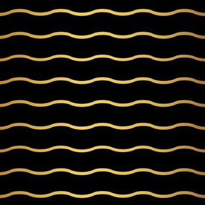 Gold and black wavy pattern