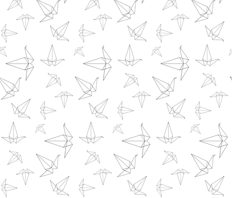Origami Peace Cranes fabric by interrobangart on Spoonflower - custom fabric