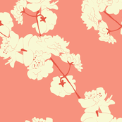 Blossom Garlands in Coral