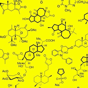 Molecules - Yellow - Small