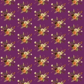 Autumn Floral on Plum