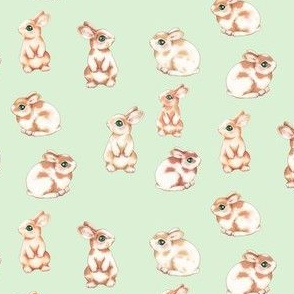 Easter Bunnies Zig Zag, Pastel Green