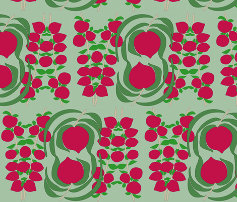 Spanish plum orchard fabric by snap-dragon on Spoonflower - custom fabric