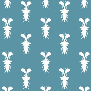Beetles, Bugs and Crawlies in Teal
