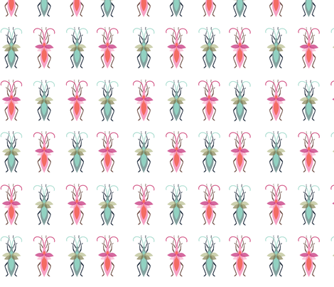 Colorful Bugs, Beetles, and Crawlies fabric by clairekalinadesigns on Spoonflower - custom fabric