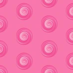 Deep Pink Spiral Dot