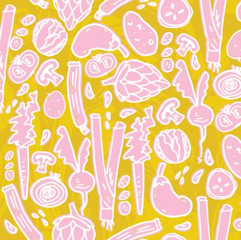 Veggie Soup fabric by marzipress on Spoonflower - custom fabric