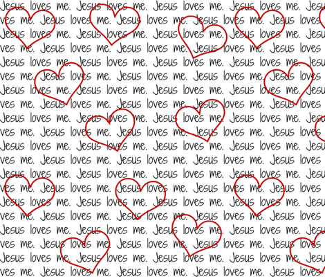 Jesus Loves Me fabric by sunshineandspoons on Spoonflower - custom fabric