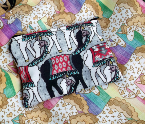 Unicorn Tote Bag and Heart Clutch