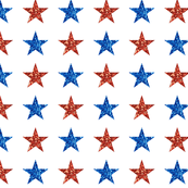 Patriotic Sparkle Stars
