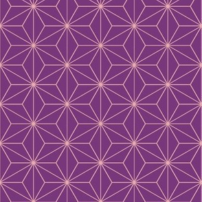 Japanese Pattern (Purple Stars)