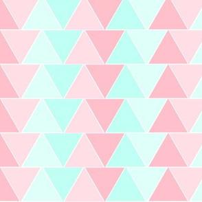 Pink Aqua Triangles
