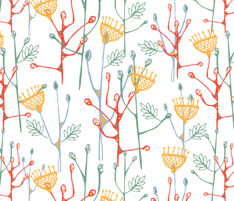 Abstract Florals  fabric by @millydees on Spoonflower - custom fabric