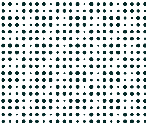 Dot Dot Echo in Black and White fabric by bluenini on Spoonflower - custom fabric