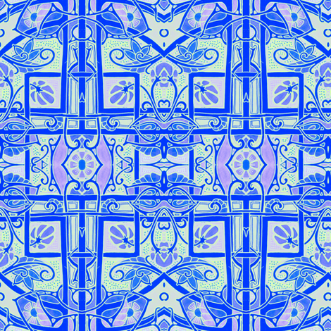 Simple Flower Plaid fabric by edsel2084 on Spoonflower - custom fabric