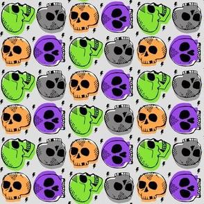 Halloween Skulls SMALL
