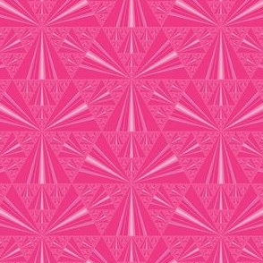 Hot Pink Sierpinski Triangles Fractal