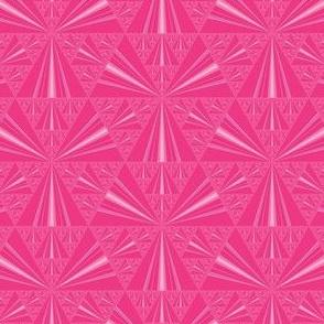 Hot Pink Sierpinski Triangles Fractal