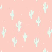 Little cactus on pink