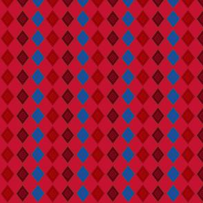 Three squares red
