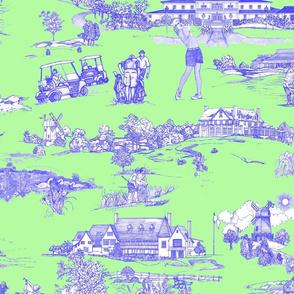 Hamptons Golf- Green Toile