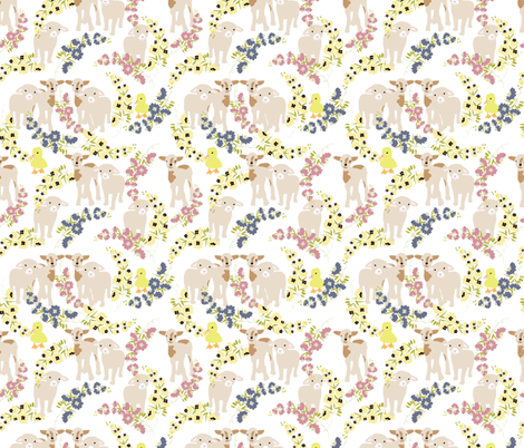 Barn yard Floral fabric by vieiragirl on Spoonflower - custom fabric