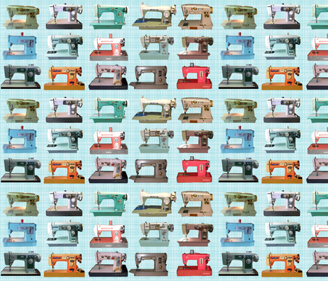 Sewing Machines fabric by hollywood_royalty on Spoonflower - custom fabric