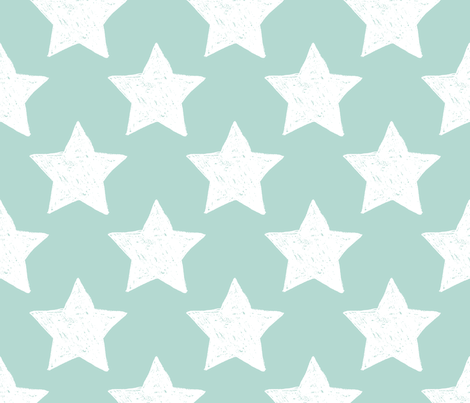 You are my mega star night hero dreamer mint fabric by littlesmilemakers on Spoonflower - custom fabric